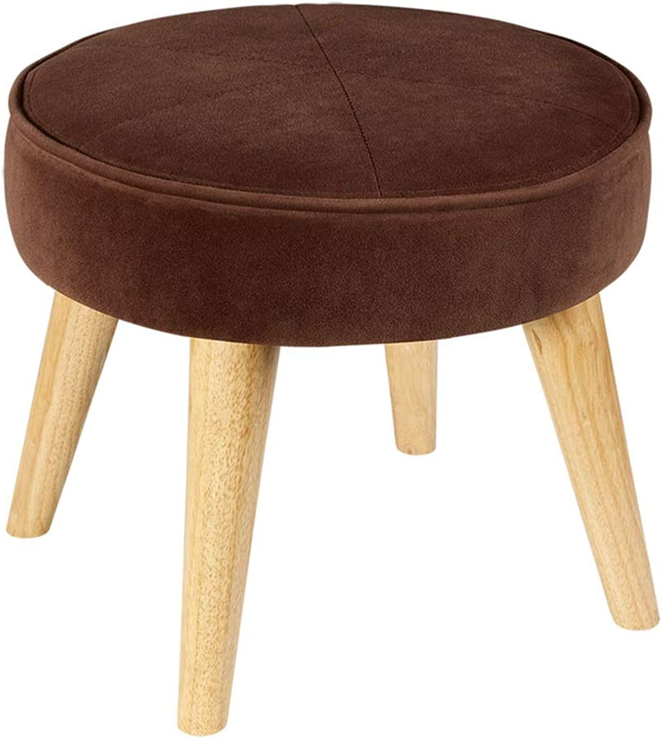 WEIYV-Barstools,bar Chair Change shoes Bench Cloth Sofa Stool Stool Solid Wood Ankle Low Stool Simple Modern Small Stool Seat (color   Coffee color, Size   36  40cm)