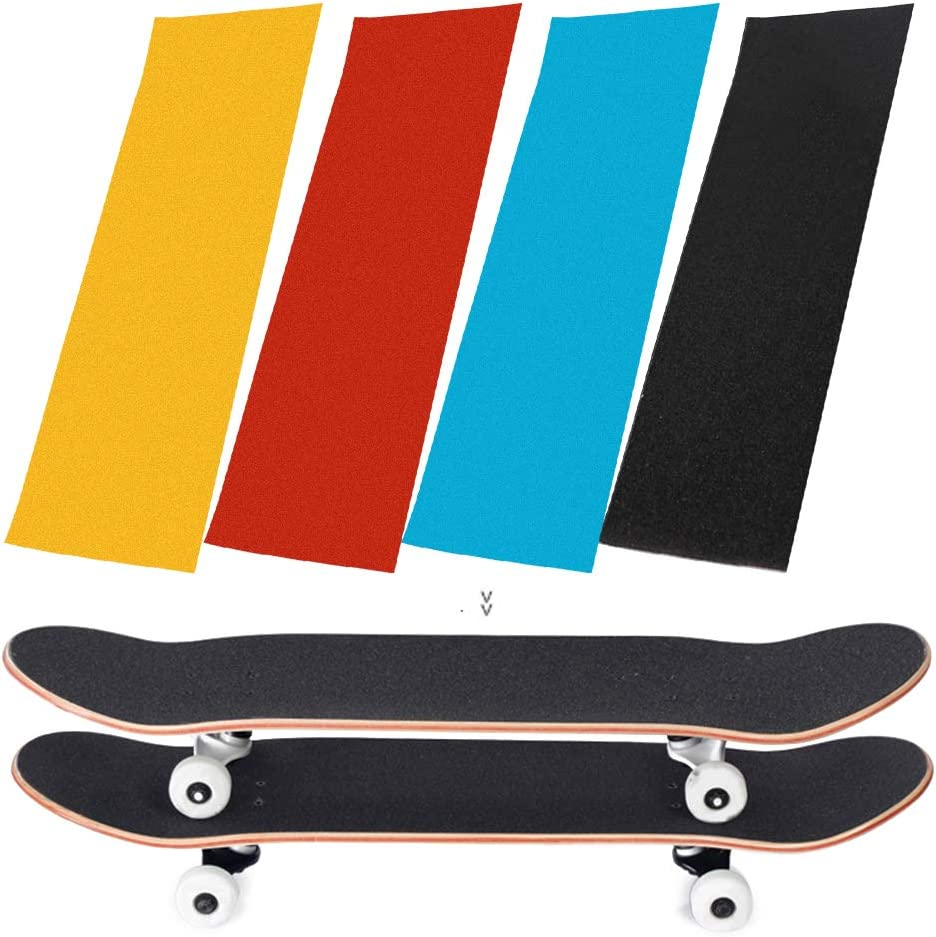 23cm PVC Solid Color Non-Slip Scooter Sticker,Self-Adhesive Wear-Resistant Skateboards Sticker Scooter Stickers,84