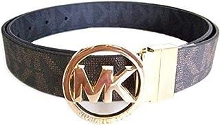 حزام بإبزيم قابل للعكس يحمل شعار MK من Michael Kors