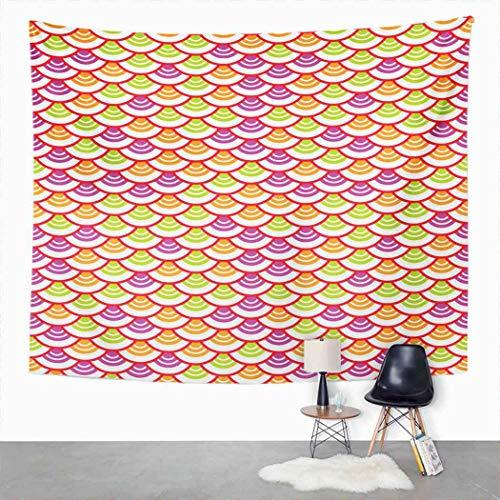 Y·JIANG - Arazzo astratto a forma di onda giapponese della bilancia del mare, decorazione per la casa e il dormitorio, grande coperta da appendere alla parete, per soggiorno, camera da letto, 50 x 60 cm