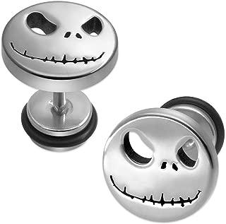 1 Paar coole Fakeplug nigthmare helloween jack skellington
