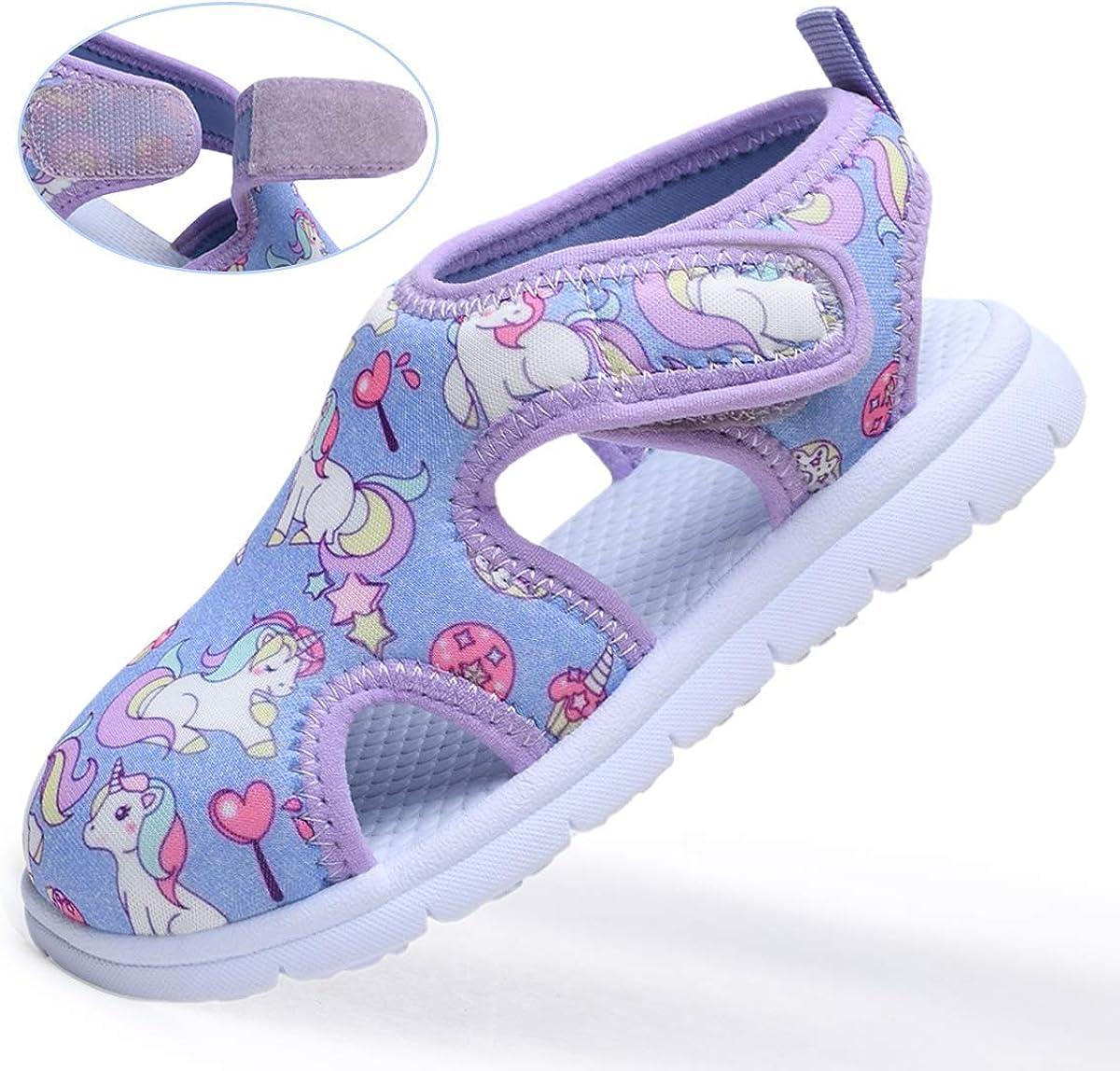 Vogana Toddler Beach Sandals - Prevent Cuts Waterproof Non-Slip - Summer Swim Water Shoes for Kids Boys Girls(2-6 Years)