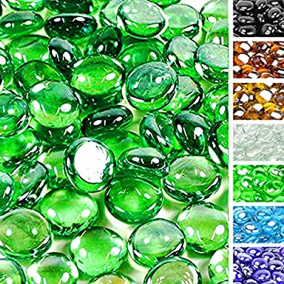onlyfire Reflective Fire Glass Drops for Natural or Propane Fire Pit, Fireplace, or Gas Log Sets, 10-Pound, 1/2-Inch, Emerald Green - Quality inspected to ensure impeccable performance and elegant appearance. Premium tempering process with consistent jewel-like color throughout. Designed for use with natural or propane gas. Sparkles under the mid day sun or the reflection of an evening fire. - patio, outdoor-decor, fire-pits-outdoor-fireplaces - 61mU8G6MydL. SS400  -