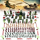 146 PCS Military Figures and Accessories Battle Group Army Man Toy Soldiers Playset Action Figures