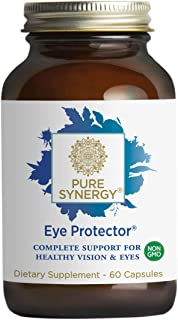 Pure Synergy Eye Protector (60 Capsules) Complete Eye Vitamin w/Lutein, Zeaxanthin, Bilberry, Astaxanthin