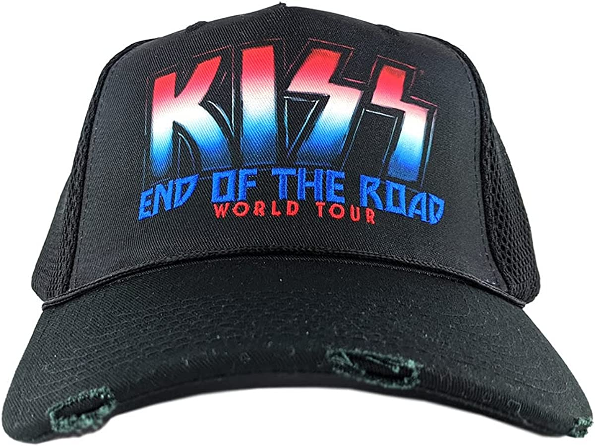 Charlotte Mall Kiss End of The Road Black OFFicial Cap Trucker