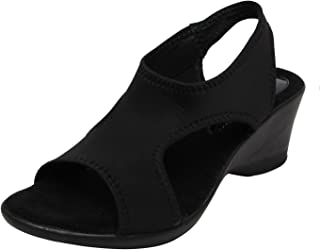 Catwalk Black Wedges Sandals for Women