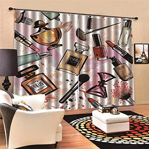 JcurtainC gordijnen, ondoorzichtig, warmte-isolerende parfumgordijnen, voor slaapkamer, woonkamer, kinderkamer, decoratief gordijn, raamdecoratie