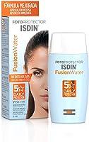 ISDIN Fotoprotector Fusion Water SPF 50, Protector Solar Facial de fase acuosa para uso diario, Textura ultra ligera, 50 ml