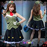 WSJDE Disfraz de Halloween Cos Ropa Mujer policía japonesa Ejército Mujer policía Traje de camuflaje Masquerade Set Xl