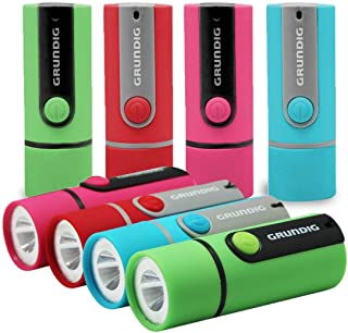MINI Flashlight 8-pack in 4 color Impact Handheld Torch Assorted Colors Use For Hurricane Supplies, Camping, Hiking, Emerg...