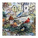 ANWUYANG BU Tela De Patrón De Aves Forest De Color 1pcs, Material De Costura De Impresión 100% Algodón, Bricolaje Casa Ropa/Manteles/Manteles/Cortina (Color : Sample55cmx50cm)