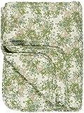 IB Laursen - Tagesdecke, Bettüberwurf, Quilt - Baumwolle - Grün,Beige Braun - 180 x 130 cm 0738-00