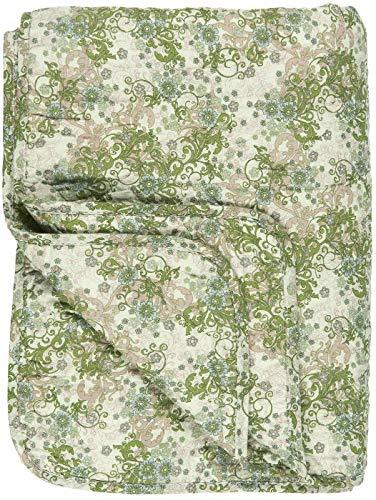 IB Laursen - Narzuta na łóżko, pikowana - bawełna - zielony, beżowy brązowy - 180 x 130 cm 0738-00