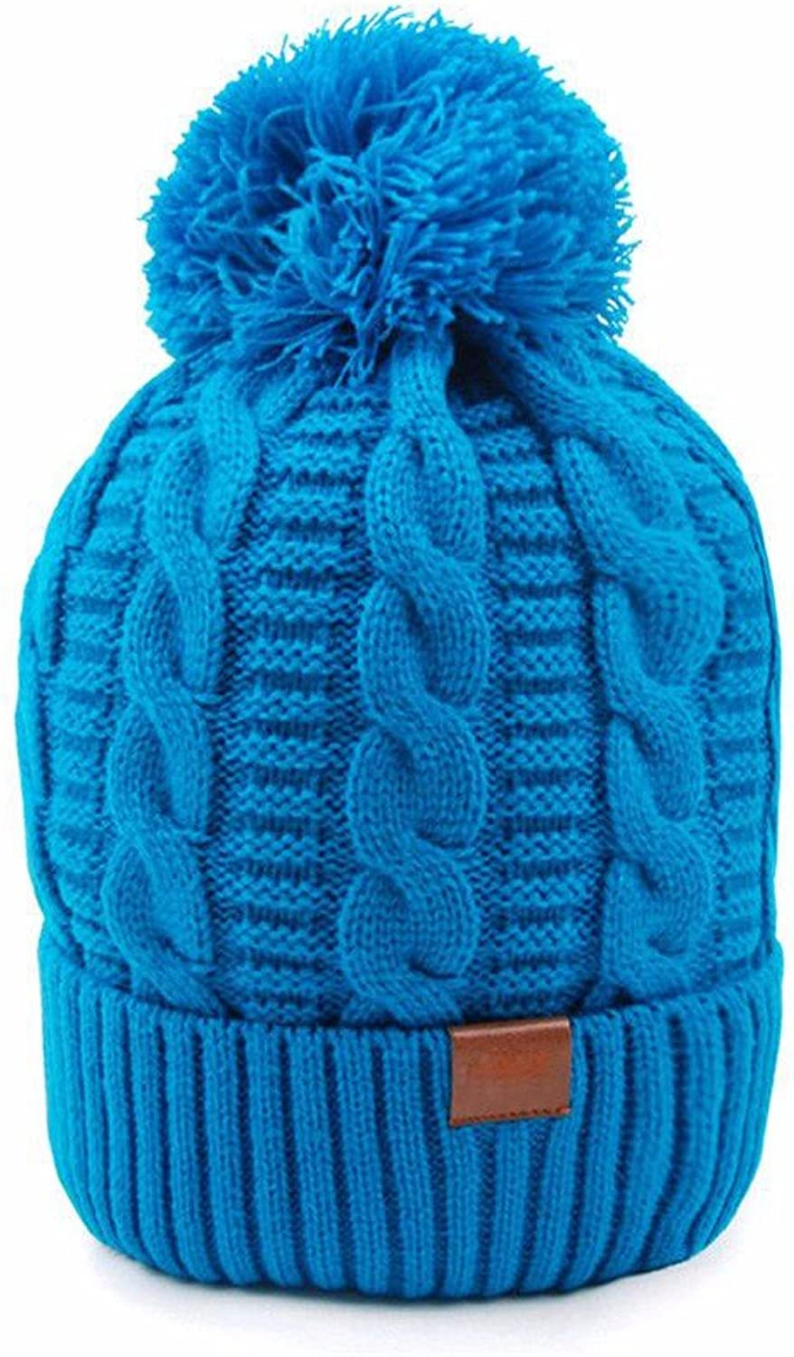 SSBY Women's windproof warm outdoor leisure knit solid color fashion ski Hat cotton