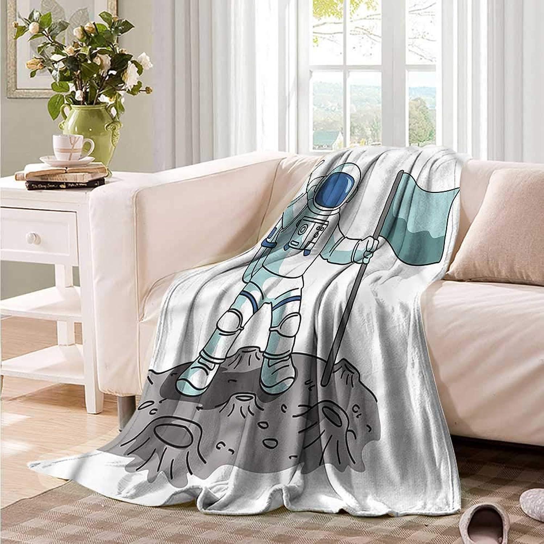 Oncegod Sofa Cushion Boys Room Victorious Astronaut Blanket on Bed Sofa Bedding 60  W x 51  L