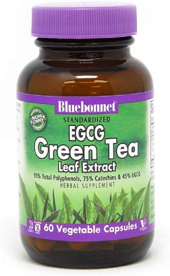 BlueBonnet Ultra-Cheap Deals EGCG Green Tea Leaf Count Super-cheap 60 Extract Supplement
