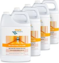 Simply Floors FLC-00025 Super Premium Ultra Floor Finish - [Pack of 4 - 1 gallon bottles] Super Premium High Solids, High Gloss, Floor Finish, Wax and Polish Coating and Protecting Solution
