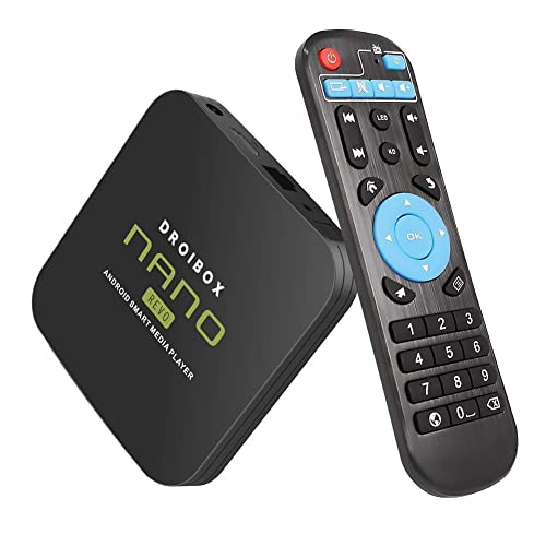 JUSTOP NANO Revo 4K Android 8.1 Oreo TV Box 2GB+16GB Ultra HD Smart TV Player Quad Core HDMI 2.0 Output Built-in WI-FI Bluetooth 4.1