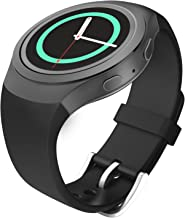MoKo Soft Silicone Replacement Sport Band for Samsung Galaxy Gear S2 Smart Watch - Negro (Not Fit Gear S2 Classic SM-7320 Version)