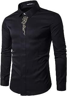 Mens Long Sleeve Extra Long Design Dress Shirt