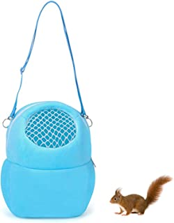 Starthi Hamster Carrier, Portable Breathable Outgoing Travel Bag with Shoulder Strap Warm Sleeping Hanging Bag for Small P...