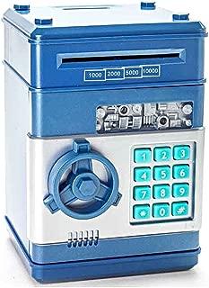 Stylebeauty Electronic Password Piggy Bank Cash Coin Can Money Locker Auto Insert Bills Safe Box Password ATM Bank Saver Birthday Gifts for Kids ( BLUE )