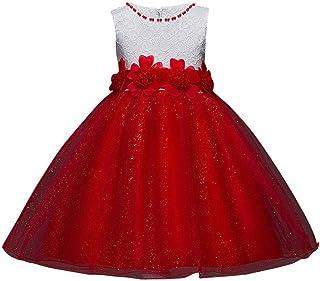6901d6f99 Logobeing Vestido de Flores para Niña Vestido Elegante Boda Fiesta de La  Dama de Honor Princesa