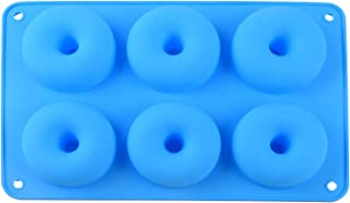 8lirot Silicone Donut Baking Molds Baking Tray with 6 Cavity, Muffin Chocolate Biscuit Baking Mould Decor Fondant Mould fo...