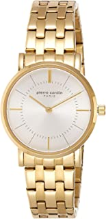 Pierre Cardin Womens Quartz Watch, Analog Display and Stainless Steel Strap