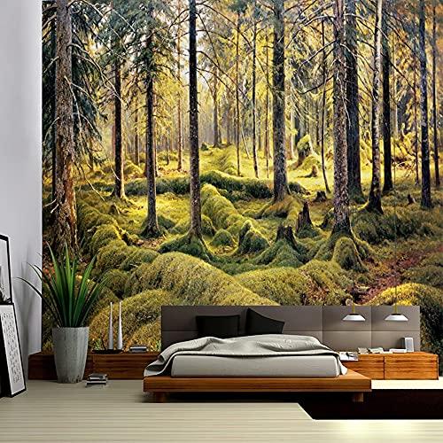 Tapiz de bosque paisaje de cascada pintura de belleza manta de pared decoración del hogar sala de estar tapiz de pared de dormitorio A3 180x230cm