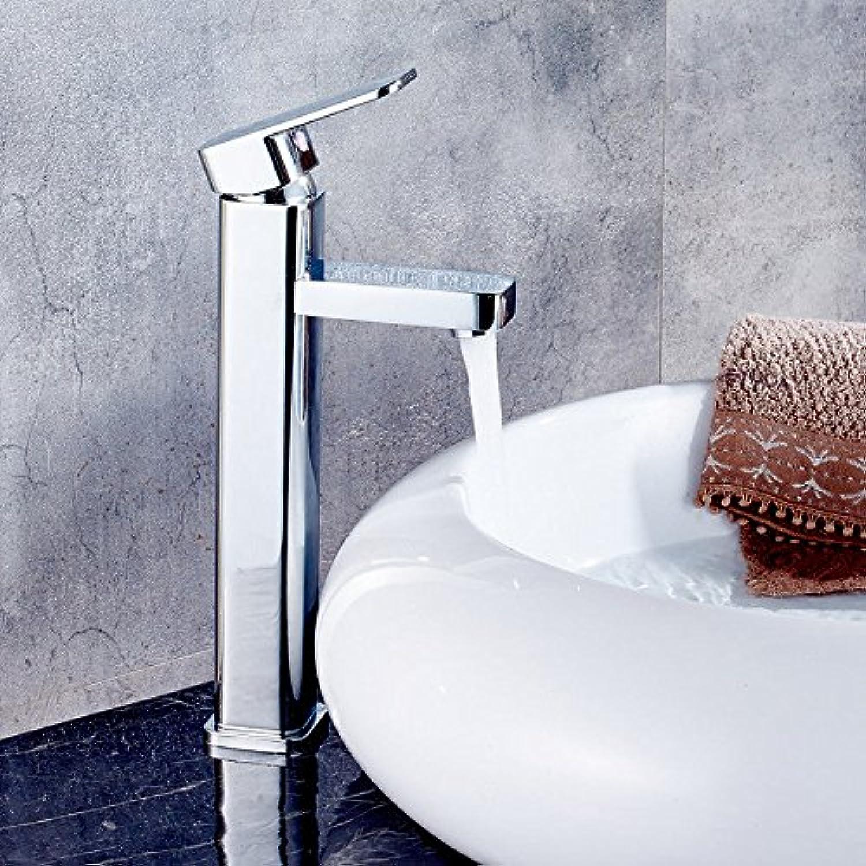 Küchenarmatur Waschtischarmatur Wasserfall Wasserhahn Bad Mischbatterie Badarmatur Waschbecken Badezimmer Erhhen des kupfernen heien und kalten Hahnbeckens