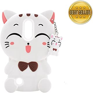 Case For LG Stylo 4 Phone/Stylus 4 Plus/Q Stylus Cover Cute 3D Cartoon Kitty Cats Soft Silicone Animal Kwaii Shockproof Anti-bump Protector Lovely Kids Gifts For LG Stylo 4/Stylus/ Stylus 4+/Q Stylus