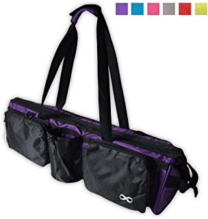 YogaAddict Yoga Mat Tote Bag Supreme and Carriers with Pocket & Zipper, 30