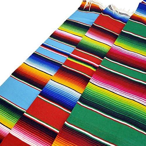 FANMEX - Fantastik - Couverture Sarape Mexicain Grand 150 x 220 cm. (Rose) Vert