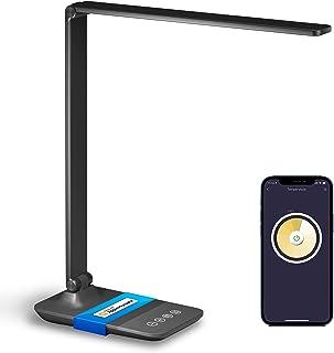 چراغ رومیزی LED Meross Smart ، چراغ رومیزی قابل تنظیم با HomeKit ، Alexa و Google Home ، چراغ میز کار با وای فای 2.4 گیگاهرتز برای دفتر کار با سفید قابل تنظیم ، کنترل از راه دور ، برنامه و تایمر
