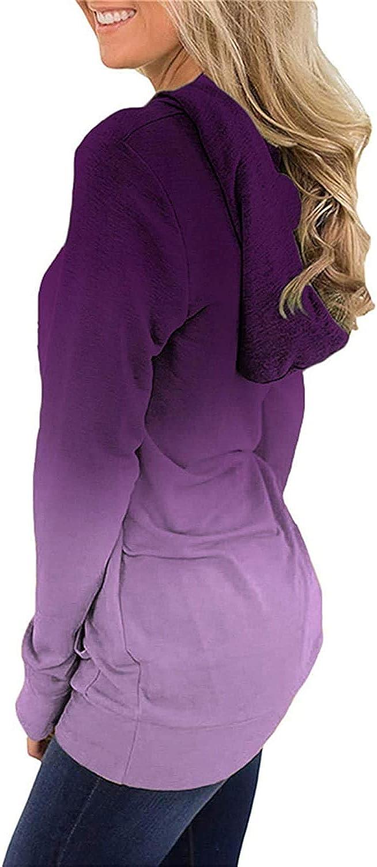 Nekosi Women's Hoodie Sweatshirt Casual Tunic Top Long Sleeve Tie Dye Cute Fall Shirts with Pocket