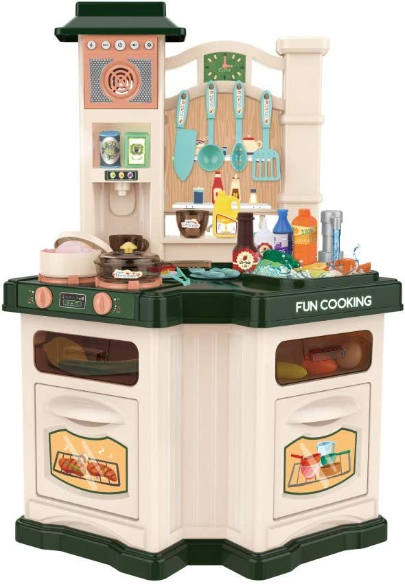 Green 【USA Free shipping on posting reviews in Bombing new work Stock】 Kids Set Little Play Kitchen