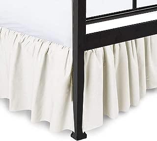 Dust Ruffle with Split Corner Ruffled Gatherd Bed Skirt with Platform - 18