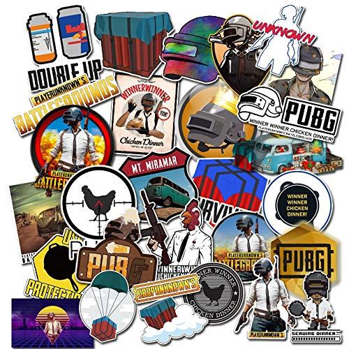 29 pcs Mixed Funny 2020 Stickers for Kids Home Decor Waterproof on Laptop Sticker PUBG Game Poster Winner Winner Chicken Dinner