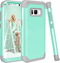 Galaxy S8 Plus Case, GPROVA Three Layer Hybrid Soft Silicone and PC Hard Case, Heavy Duty Rugged Bumper Case 360 Degree All-around Full Drop-protective for Samsung Galaxy S8 Plus (Teal/Grey)
