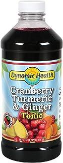 Dynamic Health Cranberry Turmeric & Ginger Tonic   Vegetarian, No Gluten, Non-GMO   Organic Ginger Puree   16 OZ, Btl-Plas...