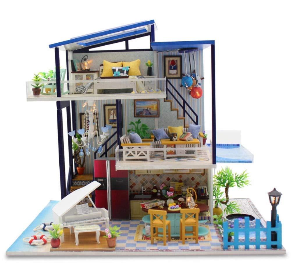 Amazon.es: XQWZM 3D Miniaturas DIY Doll House, Muebles de casa de muñecas en Miniatura de Madera Hechos a Mano, Kits de Modelos de artesanía Caja Puzzle Juguetes para niños Regalo 37.5 *