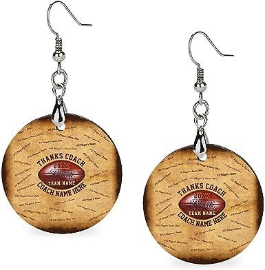 Holz-Ohrringe mit rundem Holzanhänger, Persönlichkeit