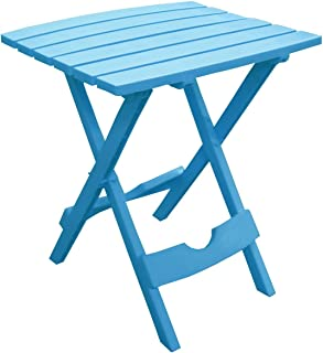 Adams Manufacturing 8500-21-3700 Plastic Quik-Fold Side Table, Pool Blue