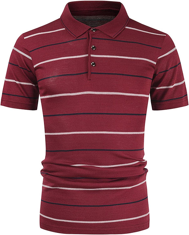 MAYW Men's Hawaiian Shirt,Short Sleeves Button Down Summer Beach Dress T-Shirts