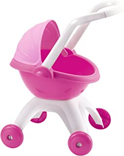 Ecoiffier Nursery Pram Stroller Toy, Multi Color, 2-4 years