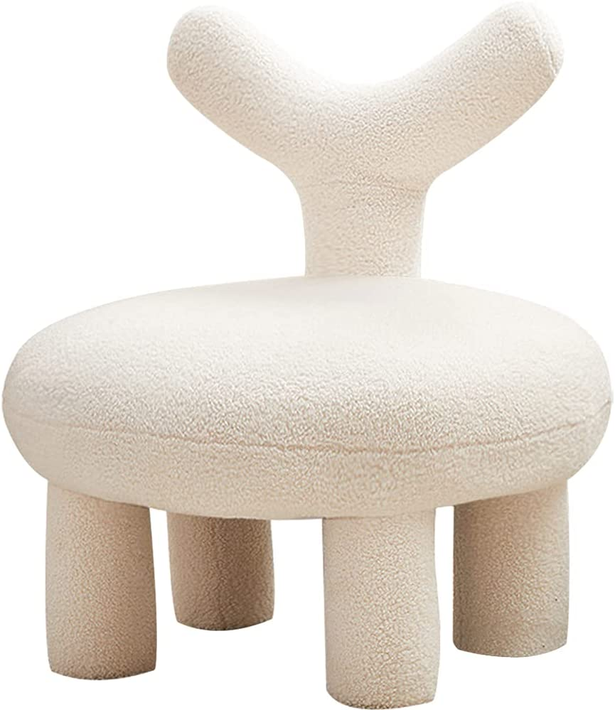 Kelendle Kids Weekly update Chair Faux Fur Max 61% OFF C Fuzzy Stool Upholstered