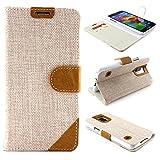 Urcover® Handyhülle kompatibel mit Samsung Galaxy S5, Wallet mit [ Kartenfach und Standfunktion ] Schutzhülle Hülle Cover Etui - Braun