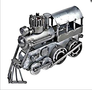 Hand-crafted Recycled Metal Locomotive Train Art